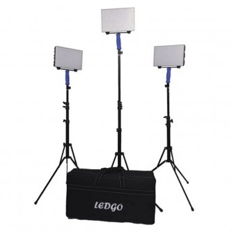 LEDGO B560C3kit + T Bicolor Portable LED Light 3 Kit